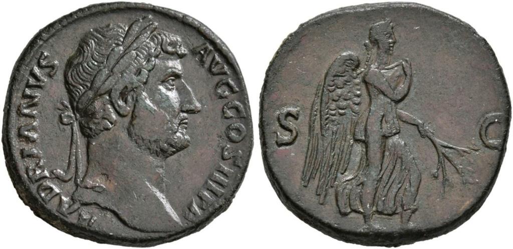 Sestercio de Adriano - Anepígrafo Victoria avanz. a der. - Roma 63075610