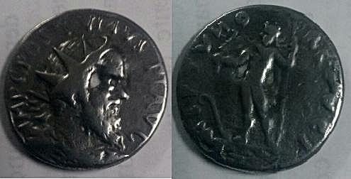 Antoniniano de Póstumo. Reproducción Antoni12
