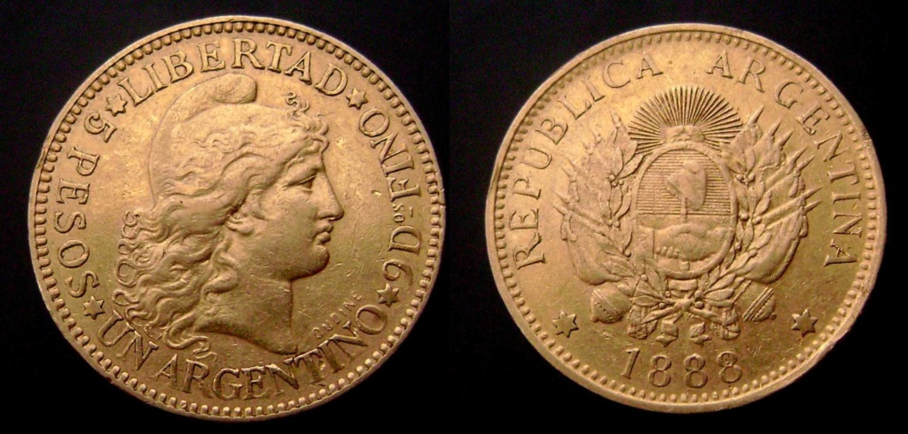 Argentina. Monedas de la serie del Patacón Argent10