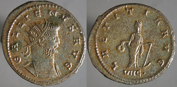 Antoniniano de galieno - LAETITIA AVG - Antioquia Erf_ri12