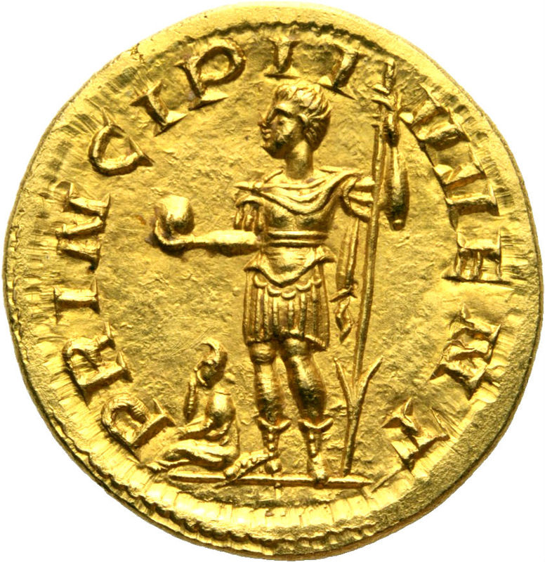 Áureo dudoso de Filipo II Filipo10
