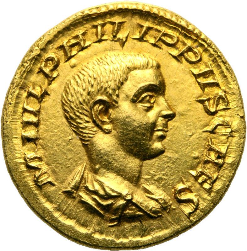 Áureo dudoso de Filipo II Filipo11