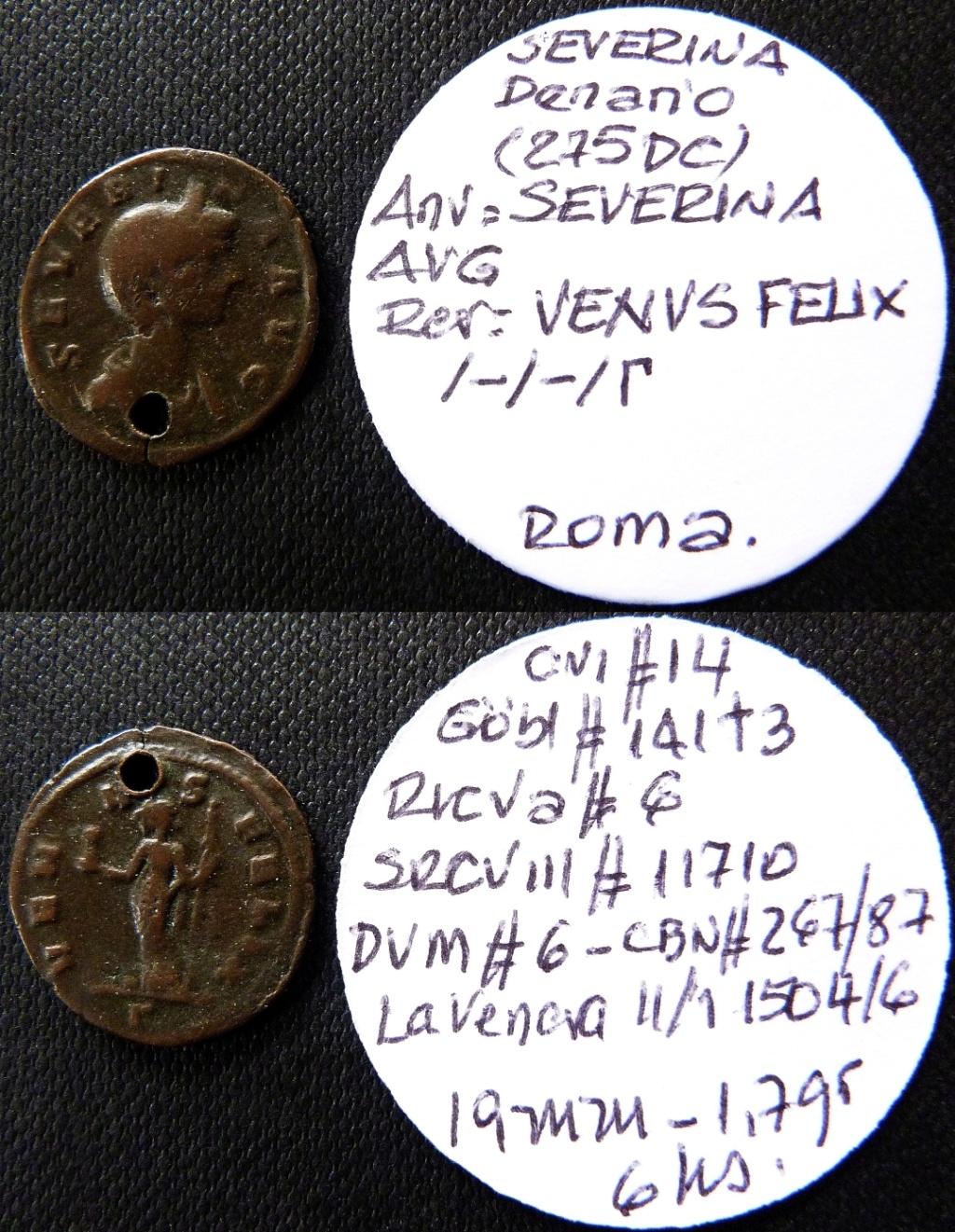 Denario de Severina. VENVS FELIX. Roma 3ª oficina Ric_6_10