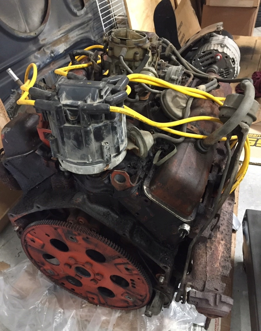 Engine, Rearend, misc parts from 1975 Chevelle Sellen10