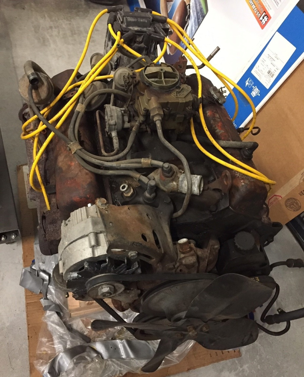 Engine, Rearend, misc parts from 1975 Chevelle Sellen11