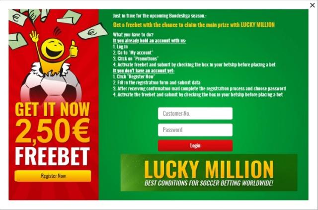 Lucky Million - Freebet 2,5e Lucky10