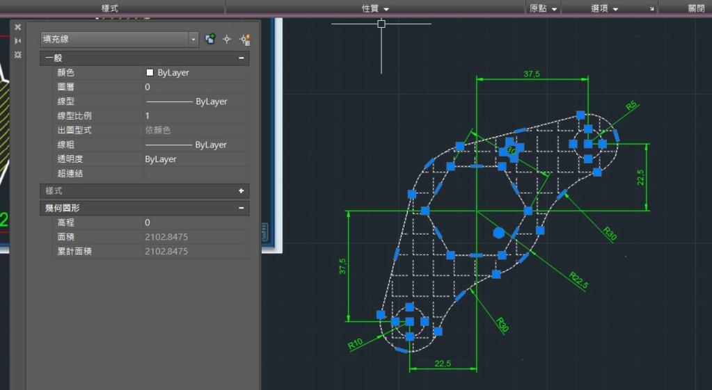 AutoCAD教學 幾何圖形習題02 Neu2-o11