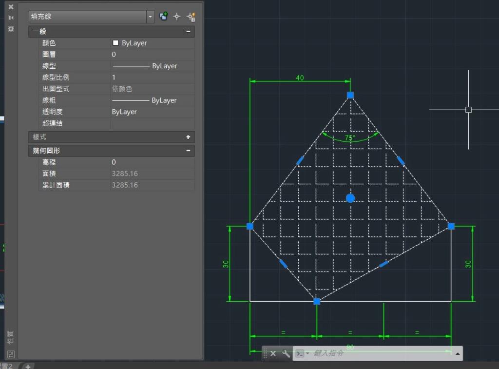 AutoCAD教學 幾何圖形習題06 Neu6-o10