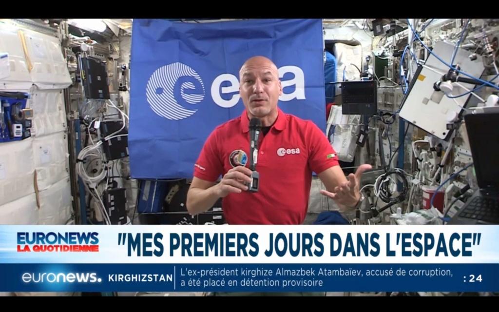 Luca Parmitano sur Euronews 210