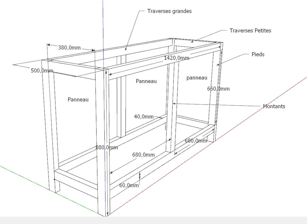 Construction d'un meuble pour poser un aquarium Meuble10