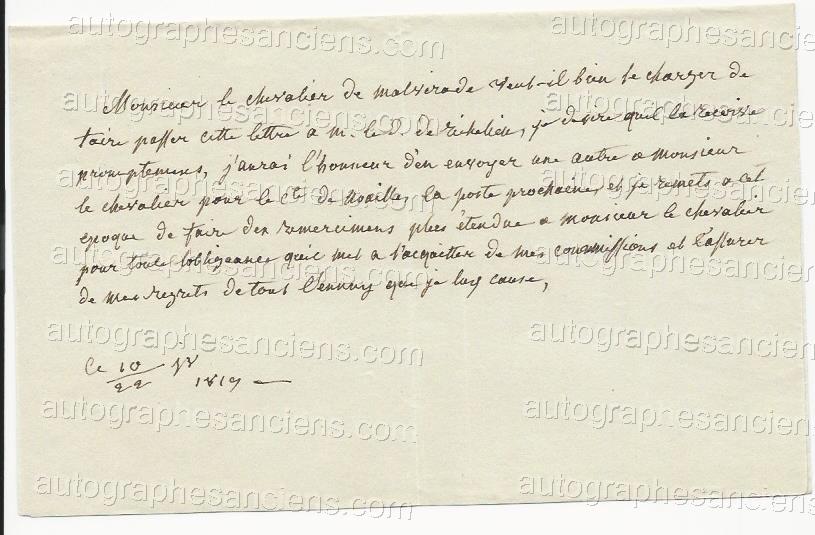 Lettres de Diane de Polignac F455a10