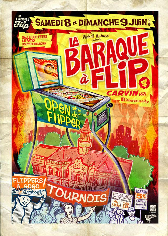 """Salon """"LA BARAQUE A FLIP"""" 8 & 9 juin 2019 à CARVIN - Page 2 Affich10"""