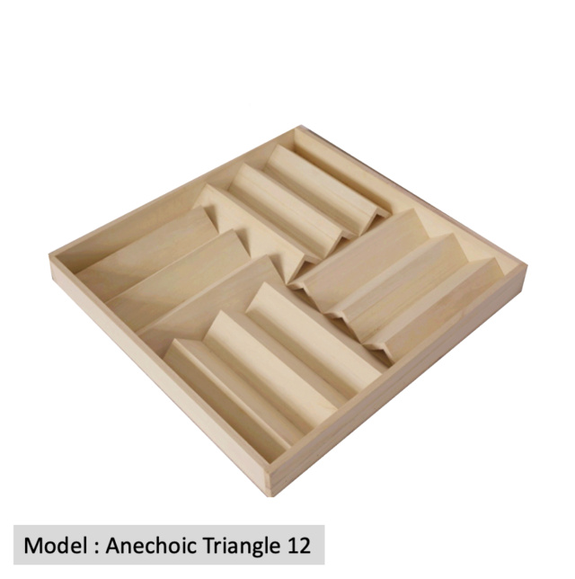Full Frequency Wood Acoustic Diffuser ANECHOIC TRIANGLE 12 (New) Anecho12
