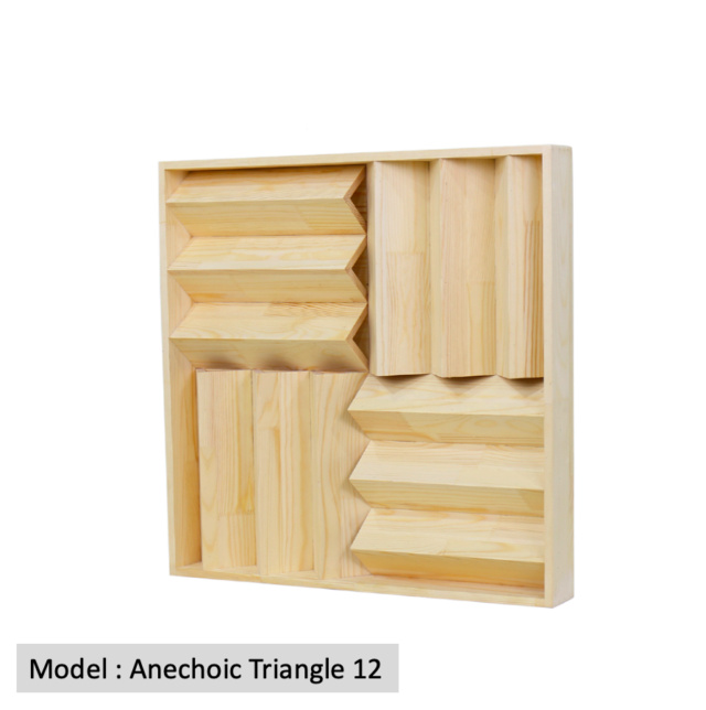 Full Frequency Wood Acoustic Diffuser ANECHOIC TRIANGLE 12 (New) Anecho14