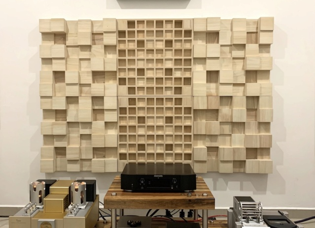 Full Frequency Wood Acoustic Diffuser SOLID TRIANGLE (New) Img_0921