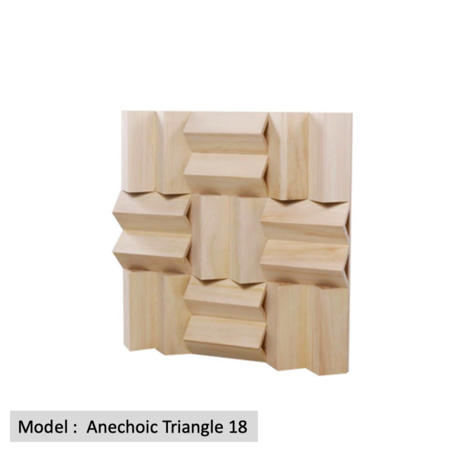 Full Frequency Wood Acoustic Diffuser ANECHOIC TRIANGLE 18 (New) Qrd_an10