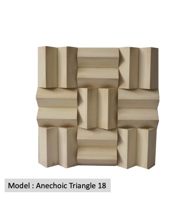 Full Frequency Wood Acoustic Diffuser ANECHOIC TRIANGLE 18 (New) Qrd_an11