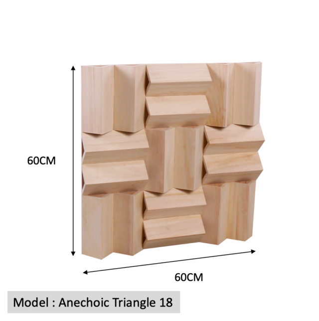 Full Frequency Wood Acoustic Diffuser ANECHOIC TRIANGLE 18 (New) Qrd_an12