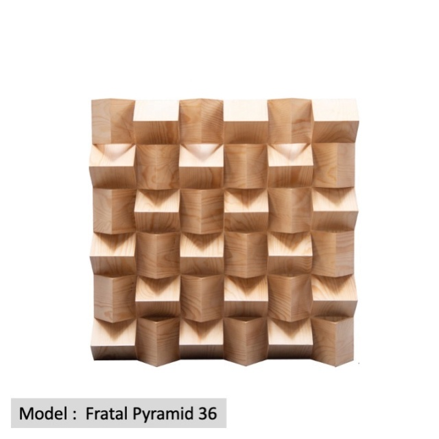 Full Frequency Wood Acoustic Diffuser FRATAL PYRAMID 36 (New) Qrd_fr10