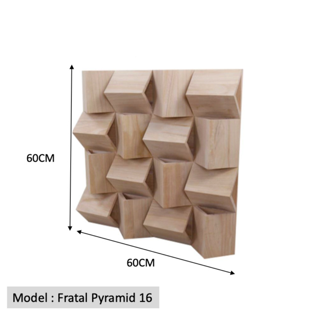 Full Frequency Wood Acoustic Diffuser FRATAL PYRAMID 16 (New) Qrd_fr10