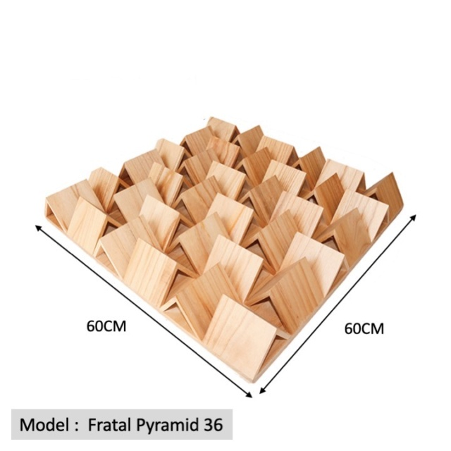 Full Frequency Wood Acoustic Diffuser FRATAL PYRAMID 36 (New) Qrd_fr11