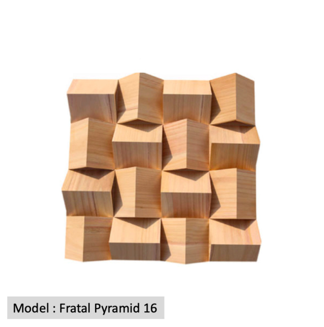 Full Frequency Wood Acoustic Diffuser FRATAL PYRAMID 16 (New) Qrd_fr11