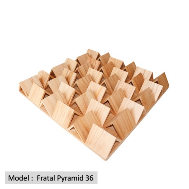 Full Frequency Wood Acoustic Diffuser FRATAL PYRAMID 36 (New) Qrd_fr12