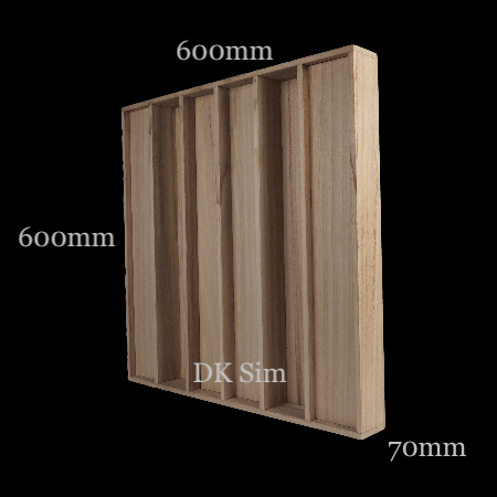 Full Frequency Wood Acoustic Diffuser QRD L1 (NEW) Qrd_l110
