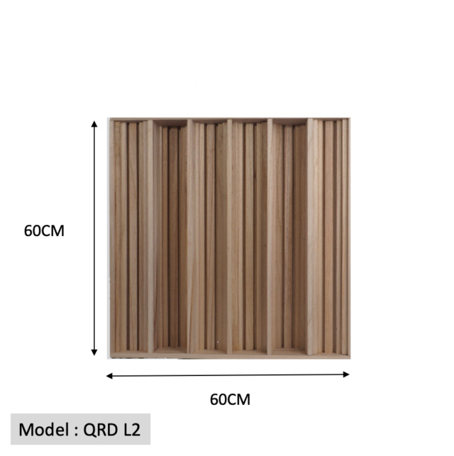 Full Frequency Wood Acoustic Diffuser QRD L2 (New) Qrd_l216