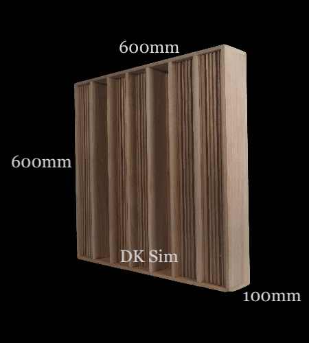 Full Frequency Wood Acoustic Diffuser QRD L3 (NEW) Qrd_l312