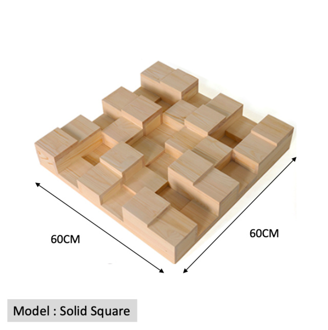 Full Frequency Wood Acoustic Diffuser QRD SOLID SQUARE 36 (New) Qrd_so11