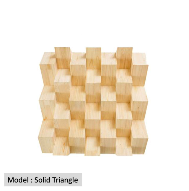 Full Frequency Wood Acoustic Diffuser SOLID TRIANGLE (New) Qrd_so15