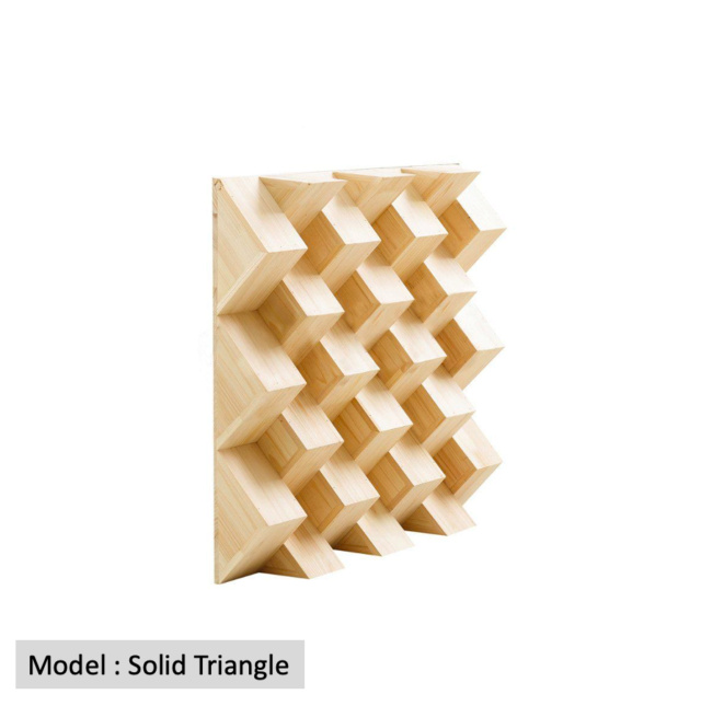 Full Frequency Wood Acoustic Diffuser SOLID TRIANGLE (New) Qrd_so16
