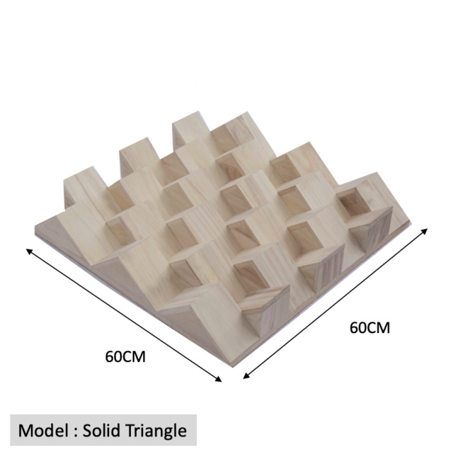 Full Frequency Wood Acoustic Diffuser SOLID TRIANGLE (New) Qrd_so17