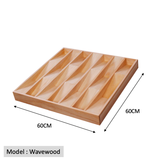 Full Frequency Wood Acoustic Diffuser WAVEWOOD (New) Qrd_wa15