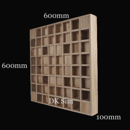 Full Frequency Wood Acoustic Diffuser QUADRATUM SQUARE 64 (SOLD) Quadra11