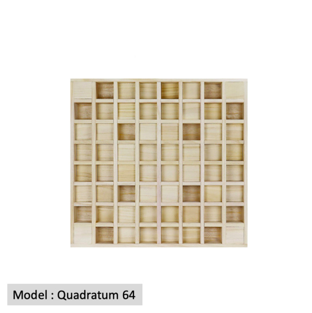 Full Frequency Wood Acoustic Diffuser QRD QUADRATUM SQUARE 64 (New) Quadra15