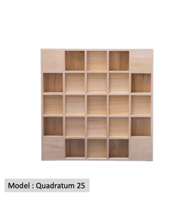 Full Frequency Wood Acoustic Diffuser QUADRATUM SQUARE 25 (New) Quadra16