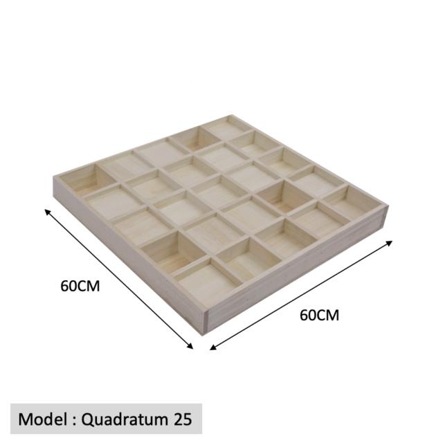 Full Frequency Wood Acoustic Diffuser QUADRATUM SQUARE 25 (New) Quadra18