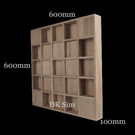 Full Frequency Wood Acoustic Diffuser QUADRATUM SQUARE 25 (NEW) Quadrt10