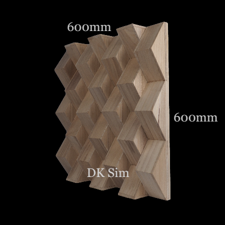 Full Frequency Wood Acoustic Diffuser SOLID TRIANGLE (NEW) Solid_10
