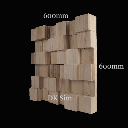 Full Frequency Wood Acoustic Diffuser SOLID SQUARE 36 (NEW) Solid_13