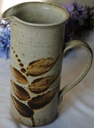Unmarked stoneware pitcher Stonew11