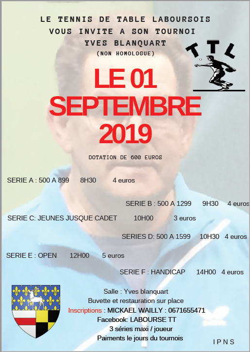 TOURNOI NON HOMOLOGUE TTL 1ER SEPTEMBRE 2019 Captur10