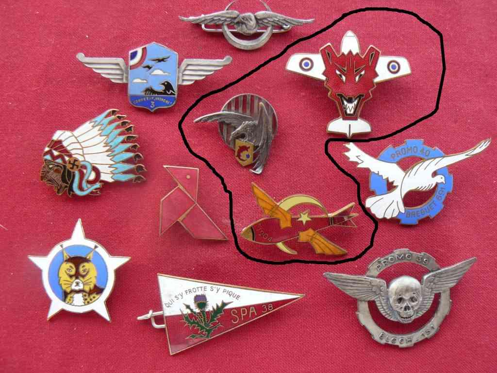 Trouvailles insignes thème aviation 20200812