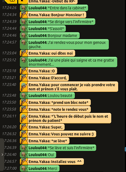 [CHU] Rapports D'actions RP de Emma.Yakaa Loulou10