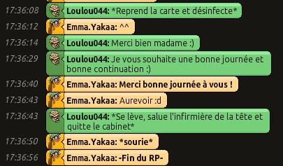 [CHU] Rapports D'actions RP de Emma.Yakaa Loulou13