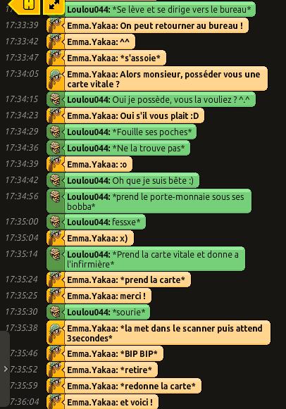 [CHU] Rapports D'actions RP de Emma.Yakaa Loulou14