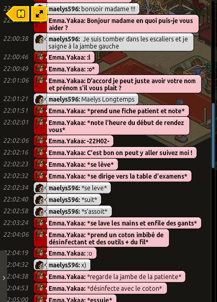 [CHU] Rapports D'actions RP de Emma.Yakaa Rp_mae10