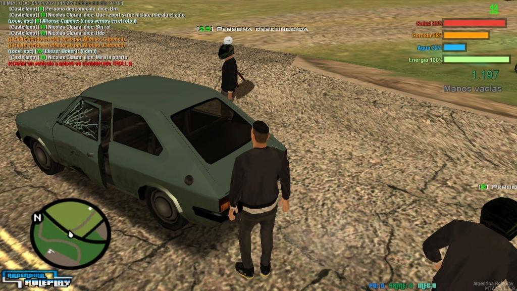 Reporte 5/4, golpes a un vehículo sin rol  Whatsa10